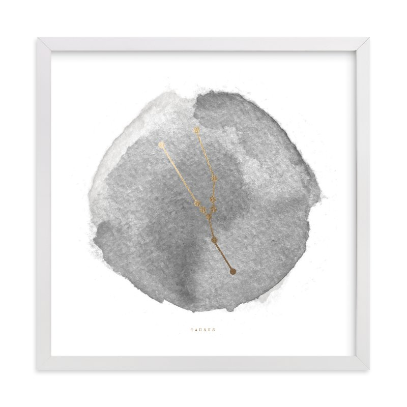 """""""Taurus"""" - Foil-pressed Art Print by annie clark in beautiful frame options and a variety of sizes."""