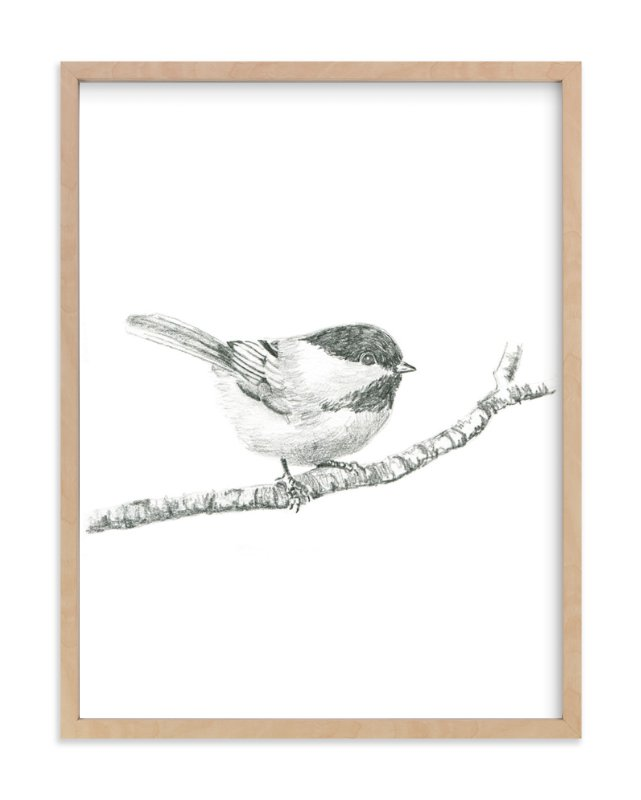 """Chickadee"" - Art Print by Corinne Aelbers in beautiful frame options and a variety of sizes."