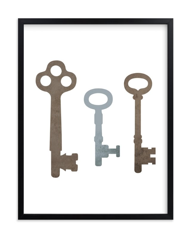 """Vintage Keys"" - Art Print by Stacey Meacham in beautiful frame options and a variety of sizes."