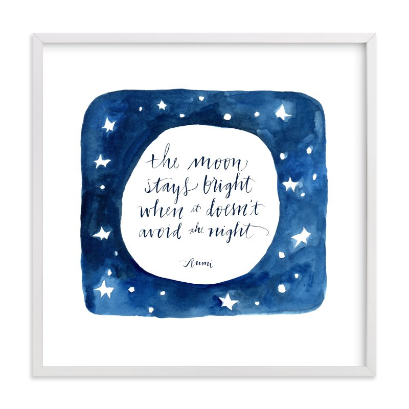 """Moon In The Night"" - Limited Edition Art Print by Tennyson Tippy in beautiful frame options and a variety of sizes."