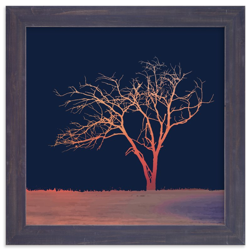 """""""Sunset Tree"""" - Art Print by Erin Niehenke in beautiful frame options and a variety of sizes."""
