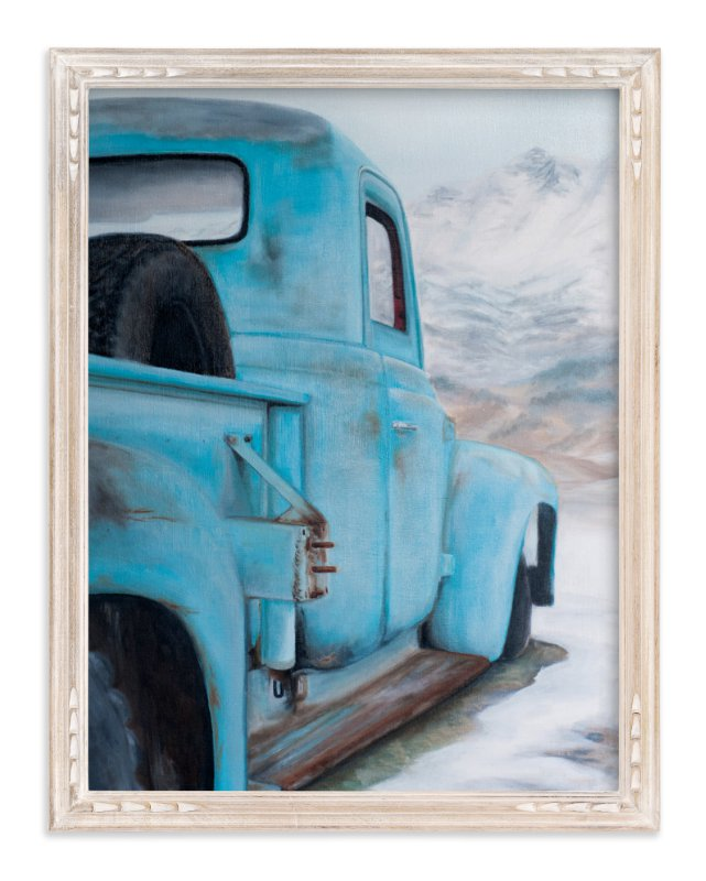 """""""Blue Solitude"""" - Art Print by Laura Morris in beautiful frame options and a variety of sizes."""