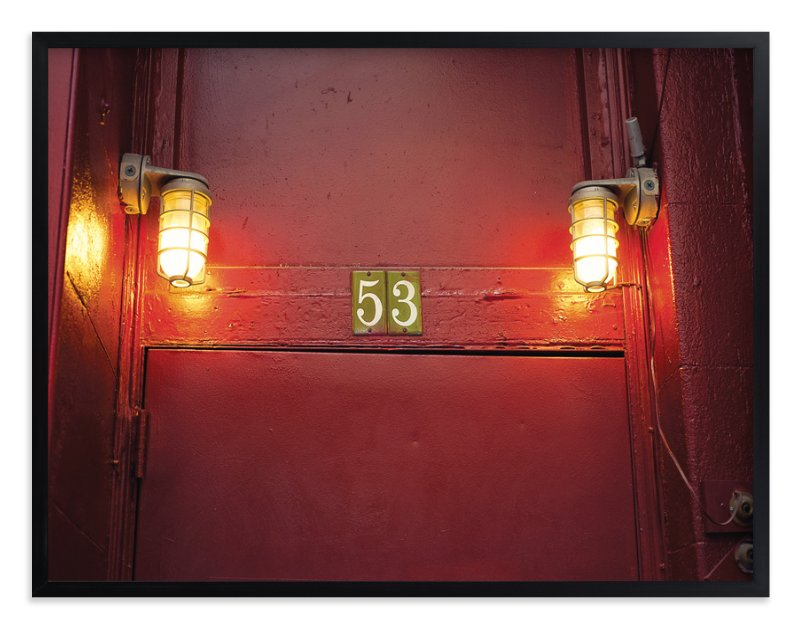 """Red Door 53"" - Art Print by Smile Peace Love in beautiful frame options and a variety of sizes."