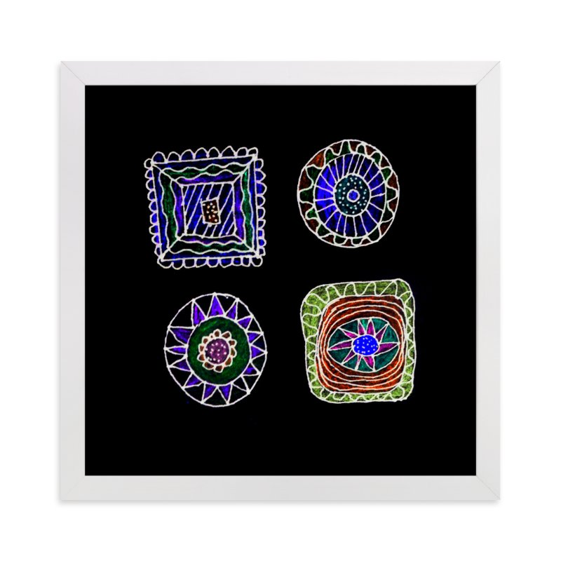 """""""abstract shapes"""" - Art Print by aticnomar in beautiful frame options and a variety of sizes."""