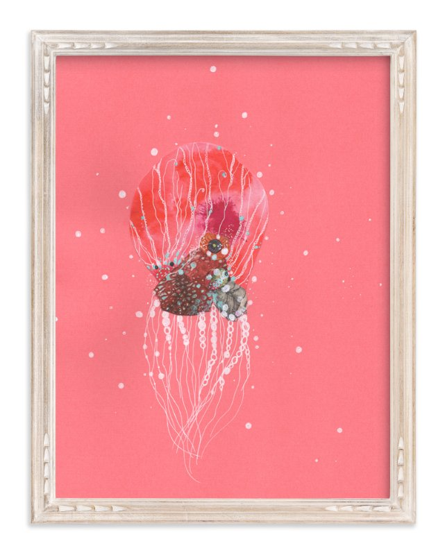 """""""Pearl Arm Cephalopod"""" - Art Print by Jenny Brown in beautiful frame options and a variety of sizes."""