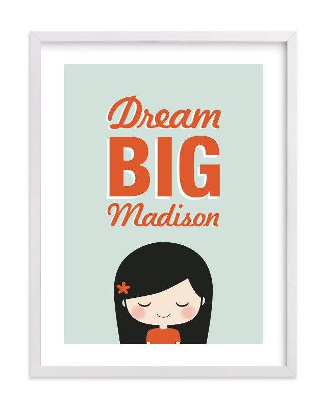 """Dream BIG"" - Nursery Custom Art Print by Guess What Design Studio in beautiful frame options and a variety of sizes."