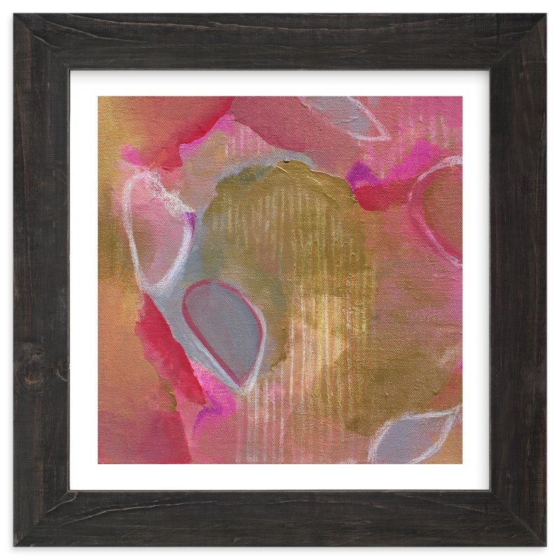 """Petals Painting "" - Art Print by Art by Megan in beautiful frame options and a variety of sizes."