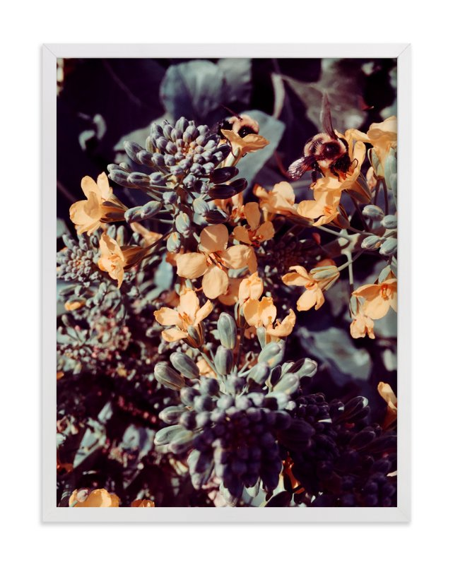 """""""Broccoli Bees"""" - Art Print by Belia Simm in beautiful frame options and a variety of sizes."""
