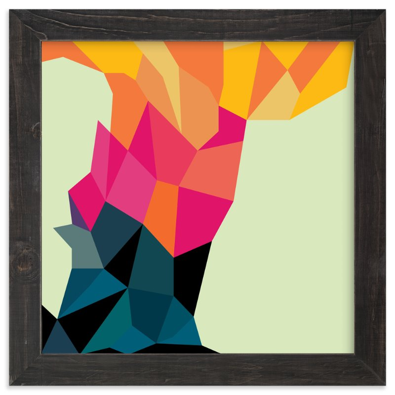 """Volcano"" - Art Print by Lucrecia in beautiful frame options and a variety of sizes."