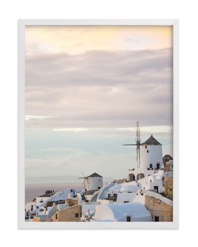 """""""Santorini"""" - Art Print by Qing Ji in beautiful frame options and a variety of sizes."""