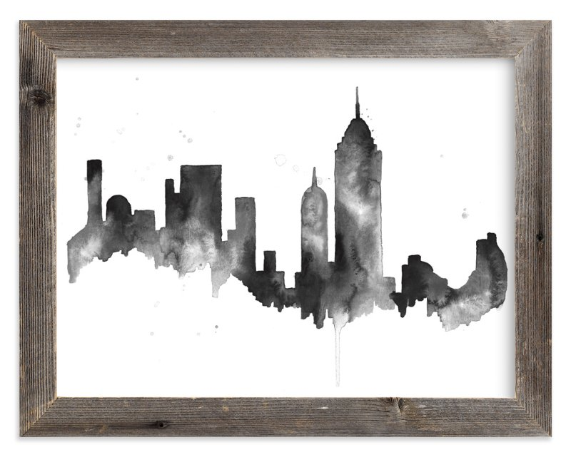 """New York City Skyline"" - Limited Edition Art Print by Kelsey McNatt in beautiful frame options and a variety of sizes."