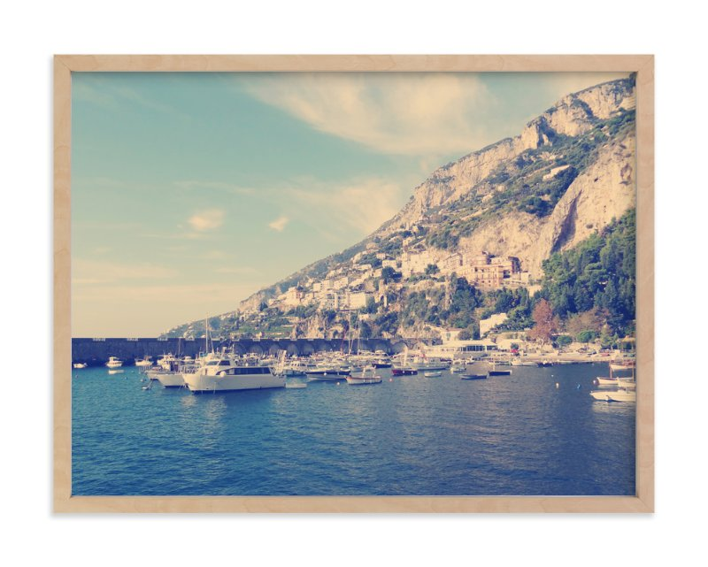 """Italian Coast"" - Art Print by Amanda Radziercz in beautiful frame options and a variety of sizes."