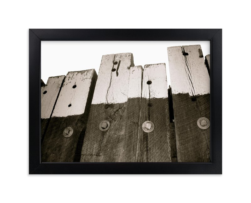 """Ferry Docks"" - Art Print by Snow and Ivy in beautiful frame options and a variety of sizes."